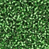 DB0046 Silver-Lined Green Delica 11/0 Miyuki - 50 grams WHOLESALE PACKAGE