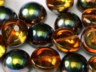 DO-00030/95300 Magic Copper Topaz Dome Beads * BUY 1 - GET 1 FREE *