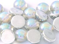 DO-00030/98530 Crystal Rainbow Silver Dome Beads * BUY 1 - GET 1 FREE *