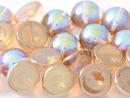 DO-00030/98532 Crystal Rainbow Brown Dome Beads * BUY 1 - GET 1 FREE *