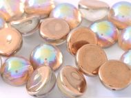 DO-00030/98533 Crystal Rainbow Copper Dome Beads * BUY 1 - GET 1 FREE *