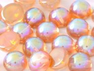 DO-00030/98535 Crystal Rainbow Orange Dome Beads * BUY 1 - GET 1 FREE *