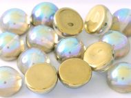 DO-00030/98536 Crystal Rainbow Gold Dome Beads * BUY 1 - GET 1 FREE *