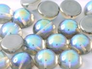 DO-00030/98537 Crystal Rainbow Graphite Dome Beads * BUY 1 - GET 1 FREE *