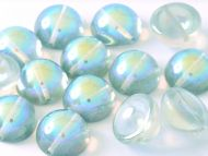 DO-00030/98539 Crystal Rainbow Green Dome Beads * BUY 1 - GET 1 FREE *