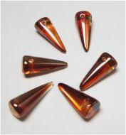 SPK17-00030/29131 Crystal Dark Apricot Spikes 7x17 mm