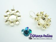 Earring Setting Leverback SS29 - Flower 6+12 mm Gold Plated