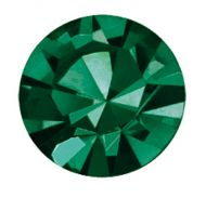 PC47 Emerald Unfoiled Chaton 10 mm SS47 Preciosa