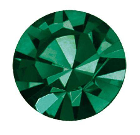 PC47 Emerald Unfoiled Chaton 10 mm SS47 Preciosa
