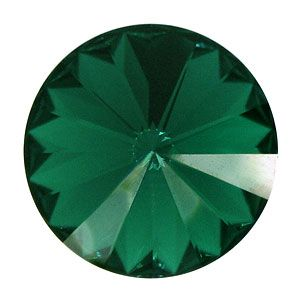 1122 Emerald Rivoli 14 mm Swarovski