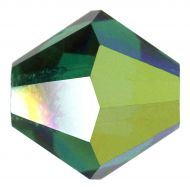 Emerald AB 4 mm Bicone Preciosa - 50 x