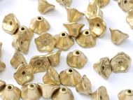 FC-01710 Gold Satin Flower Cup Beads - 60 x * BUY 1 - GET 1 FREE *