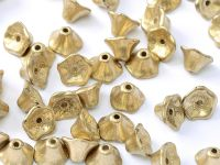 FC-01710 Gold Satin Flower Cup Beads - 60 x