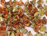 FC-98542 California Gold Rush Flower Cup Beads - 60 x * BUY 1 - GET 1 FREE *