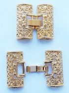 Fold-Over Clasp Filigree 26 mm Gold