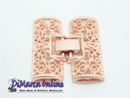 Fold-Over Clasp Filigree 26 mm Rose Gold