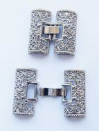 Fold-Over Clasp Filigree 26 mm Silver