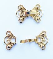 Fold-Over Clasp Victorian 16 mm Gold