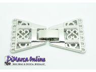 Fold-Over Clasp Deco 6-strands 32 mm Platinum