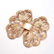 Fold-Over Clasp Filigree 36 mm Gold
