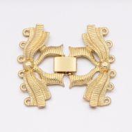 Fold-Over Clasp Filigree 38 mm Gold 6 strands