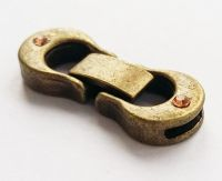 Fold-Over Clasp Glue-In with Rhinestone Antique Bronze