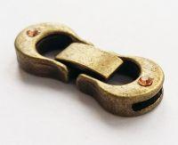 Fold-Over Clasp Glue-In with Rhinestone Antique Bronze