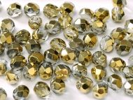FP04 Crystal Amber (Gold) 4 mm Fire Polished ~ 100 x
