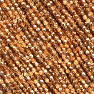 FP02 Crystal Metallic Rose Gold 2 mm Fire Polished - 1.5 grams