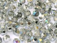 FP03 Crystal Rainbow Silver 3 mm Fire Polished - 100 x