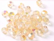 FP04 Crystal Rainbow Yellow 4 mm Fire Polished - 100 x