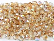 FP04 Crystal Rainbow Brown 4 mm Fire Polished - 100 x