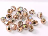 FP03 Crystal Rainbow Copper 3 mm Fire Polished - 100 x