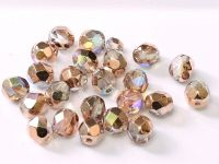 FP04 Crystal Rainbow Copper 4 mm Fire Polished - 100 x