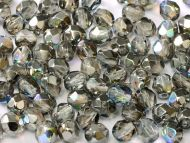 FP04 Crystal Rainbow Graphite 4 mm Fire Polished - 100 x