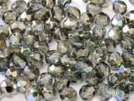 FP02 Crystal Rainbow Graphite 2 mm Fire Polished ~ 150 x