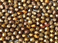 FP03 Gold Iris Satin Mix 3 mm Fire Polished ~ 100 x