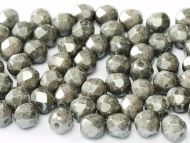 FP03 Chalk Grey Lumi 3 mm Fire Polished - 50 x