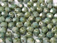 FP03 Chalk Green Lumi 3 mm Fire Polished ~ 100 x