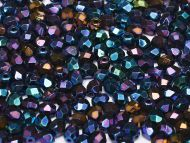 FP03 Iris Blue 3 mm Fire Polished ~ 100 x