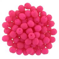 FP04 Neon Hot Pink 4 mm Fire Polished - 100 x