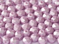 FP04 Pink Pearl 4 mm Fire Polished - 100 x