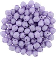 FP03 Powdery - Pastel Purple 3 mm Fire Polished - 100 x