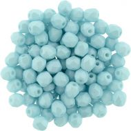 FP03 Powdery - Pastel Turquoise 3 mm Fire Polished - 100 x