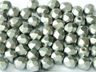 FP04 Grey Pearl 4 mm Fire Polished - 100 x