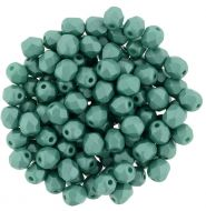 FP03 Powdery - Teal 3 mm Fire Polished - 100 x