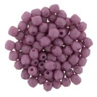 FP03 Opaque Silk Matt Mauve Violet 3 mm Fire Polished - 50 x