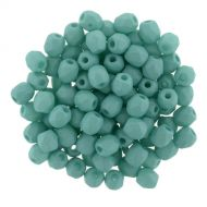 FP03 Opaque Silk Matt Turquoise 3 mm Fire Polished - 100 x