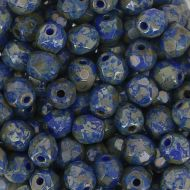 FP04 Blue Picasso 4 mm Fire Polished ~ 100 x