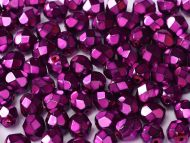 FP03 Heavy Metal Fuchsia 3 mm Fire Polished - 100 x